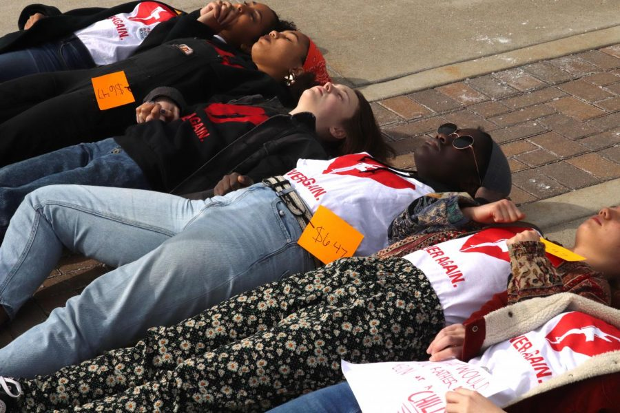 The die-in lasted six minutes and 20 seconds, the amount of time Nikolas Cruz was an active shooter.