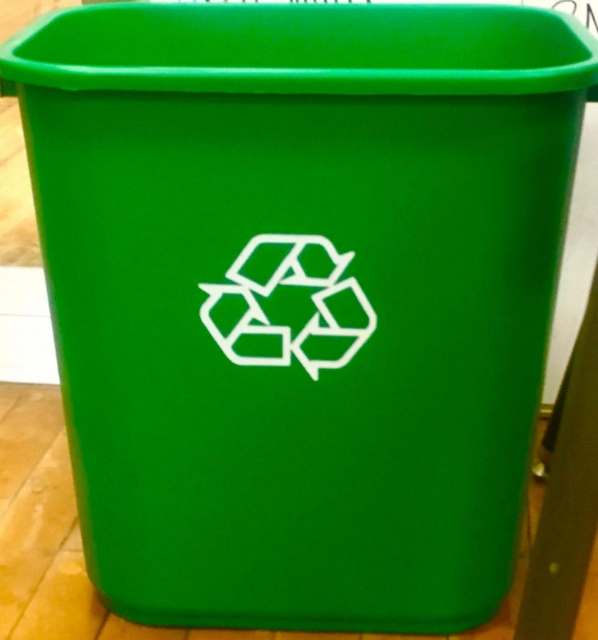 All Classrooms Receive New Recycling Bins