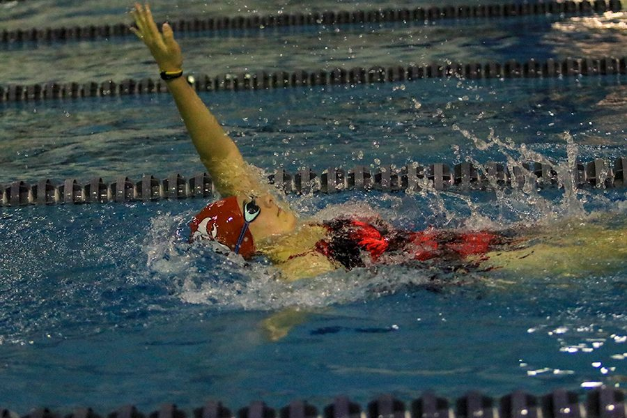 Girls Swim Team Places Fifth in the MVC