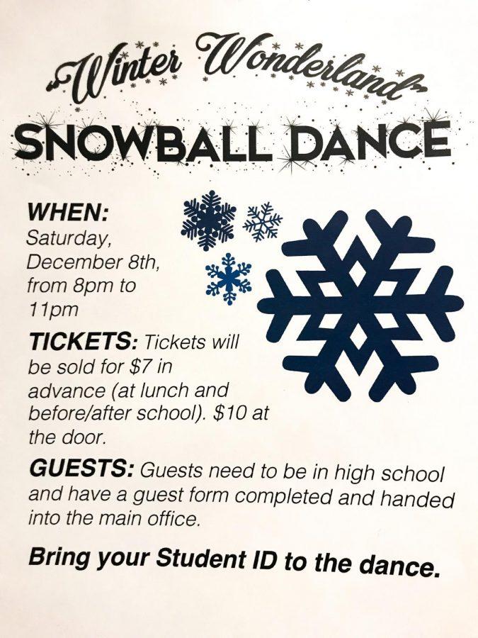 Snowball Dance Set for December 8, Vanlo to D.J.