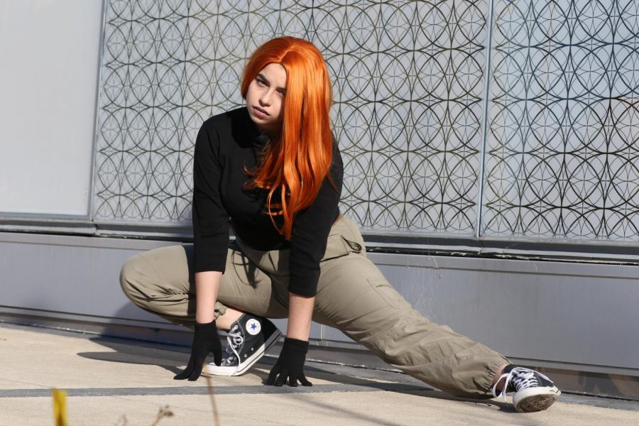 Josefina Frisina '19 cosplays as Kim Possible.