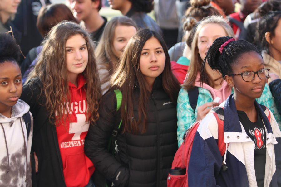 Freshman+students+who+were+not+at+City+for+last+year%27s+walkout+walked+out+in+droves%2C+unafraid+to+take+a+stand.+