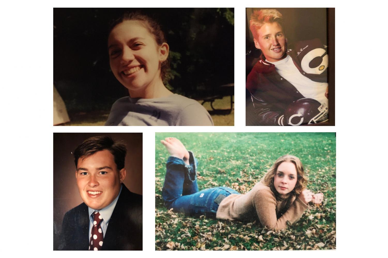 Anna Basile, AJ Leman, John Burkle and Haley Johannesen as high schoolers.
