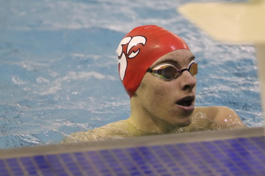 Isaac Weigel '21 is proving a powerhouse on the boys swim team.