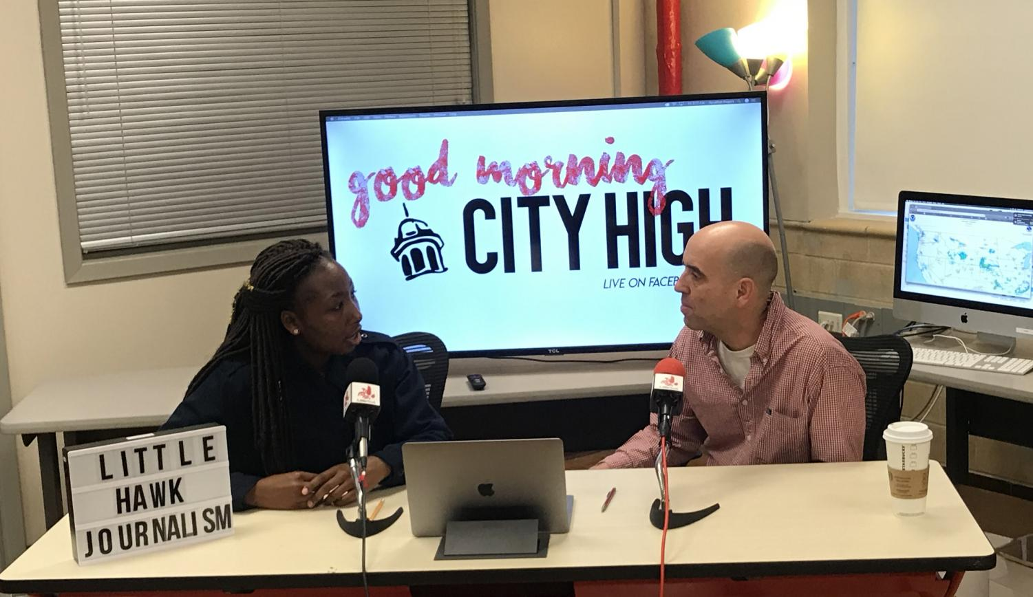 Virginia Muturi and Tom Carey discuss the new online statewide testing.