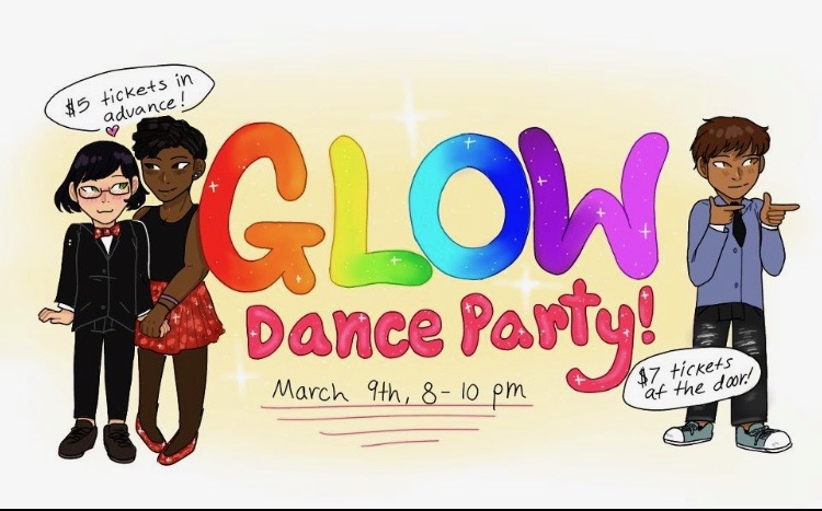 GLOW club dance poster for 2019.