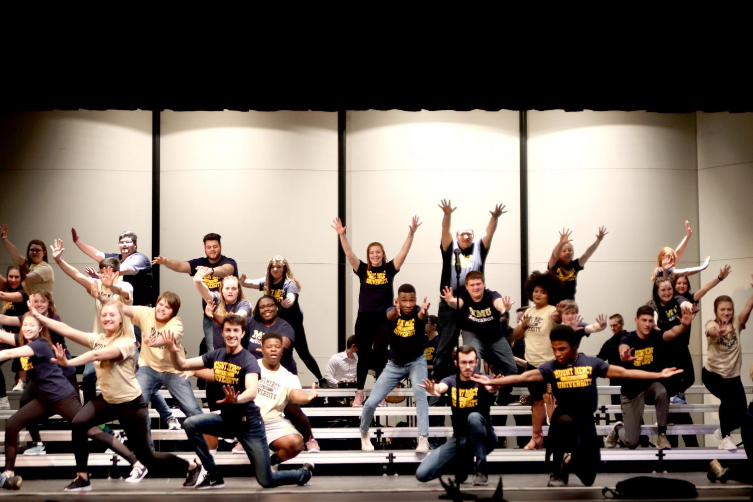 Mount Mercy came to City High to show off their Jazz and Show Choir.