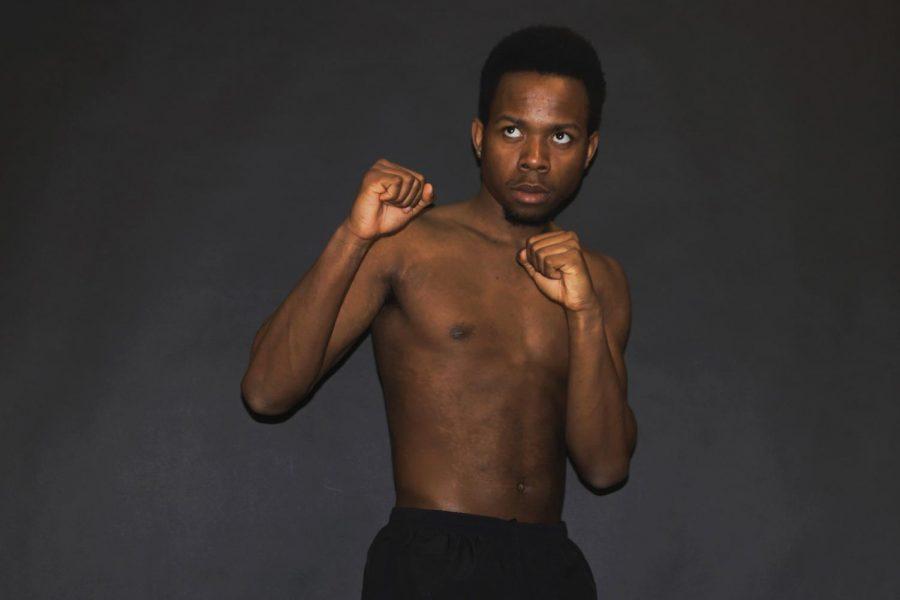 Olivier Shabani '19 as boxer and activist, Mohomad Ali.