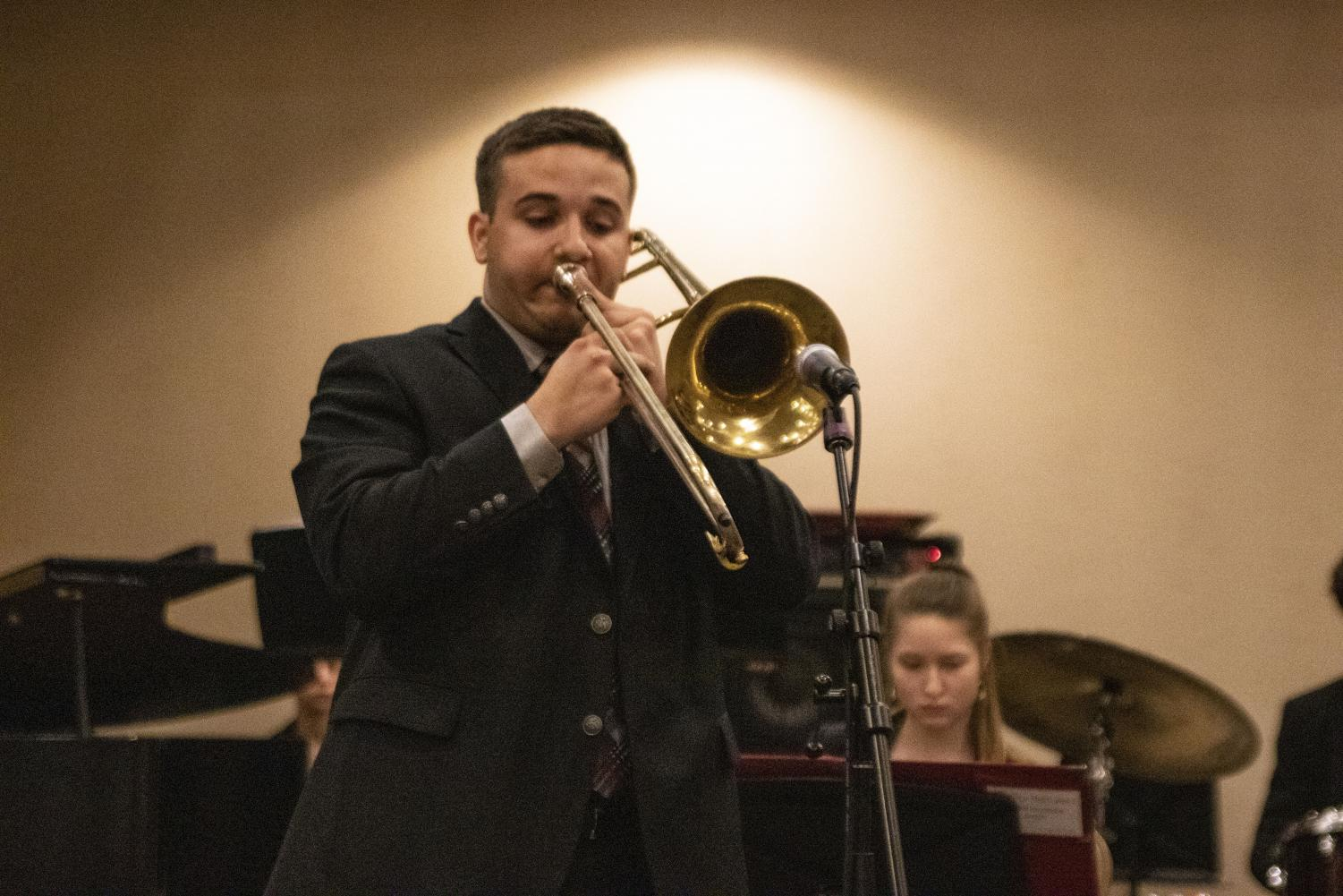 Kolbe+Schnoebelen+%2720+soloing+on+trombone.+Schnoebelen+was+one+of+three+city+high+students+who+also+participate+in+All+State+Jazz