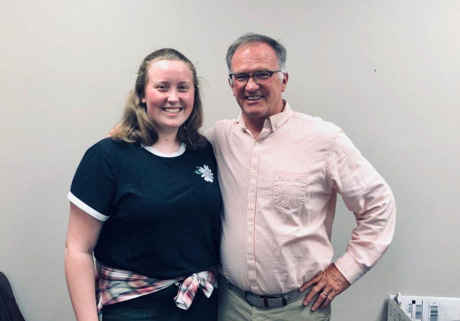Choir teacher Dr. Greg Grove with Rachel Meehan.