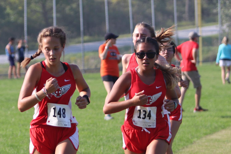 City High JV girls in xc race.