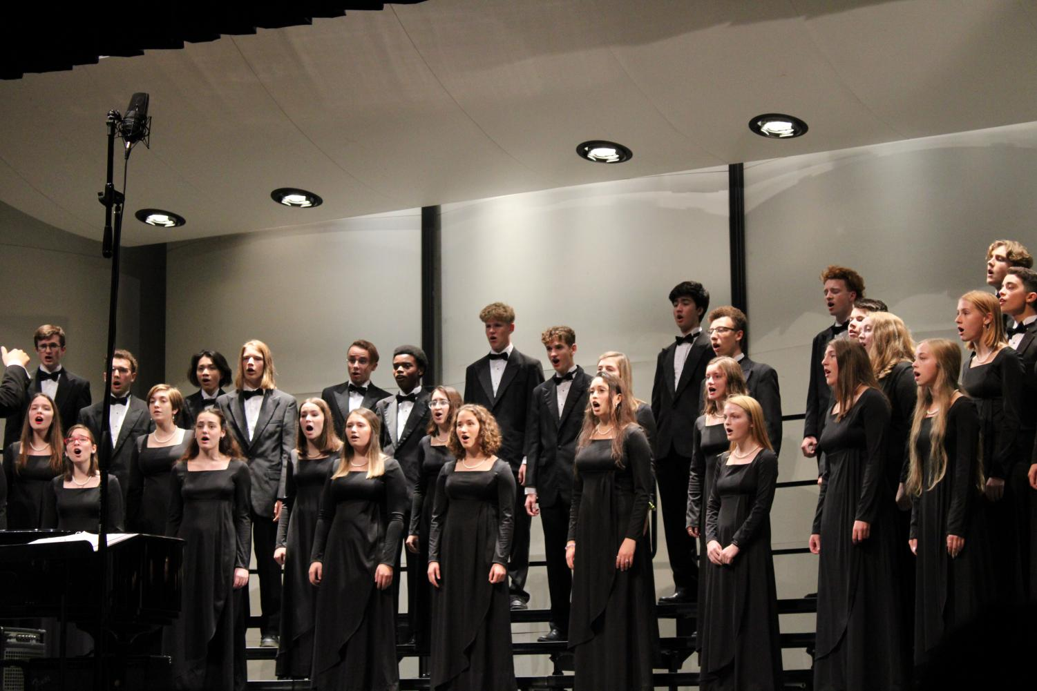 City High concert choir encapsulating the audience with a high fermata note