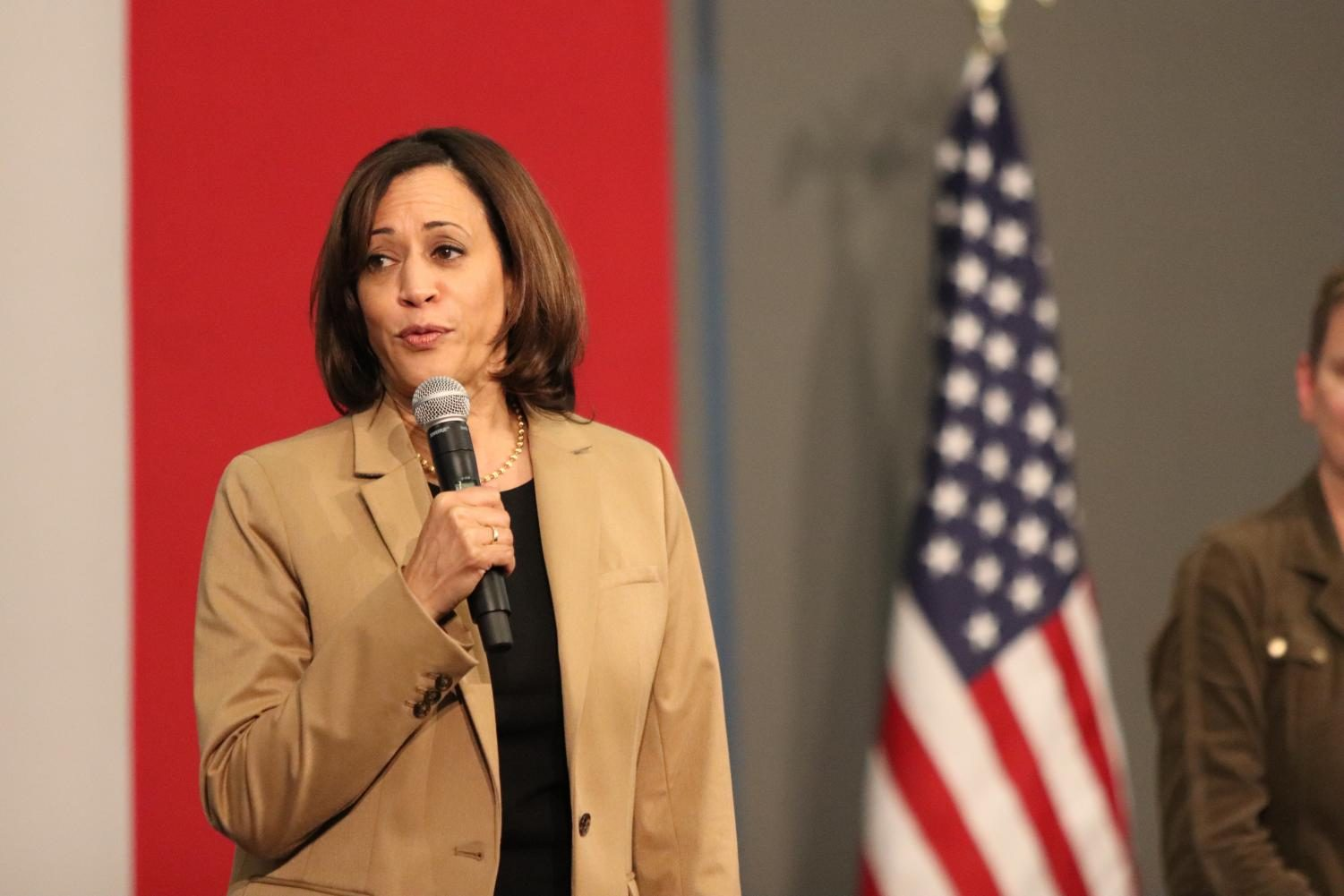 Presidential candidate Kamala Harris held a rally in Iowa City on Tuesday, October 22, 2019.