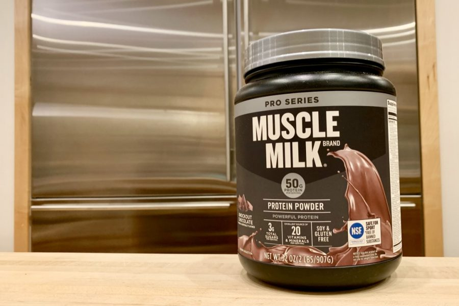The brand Muscle Milk.