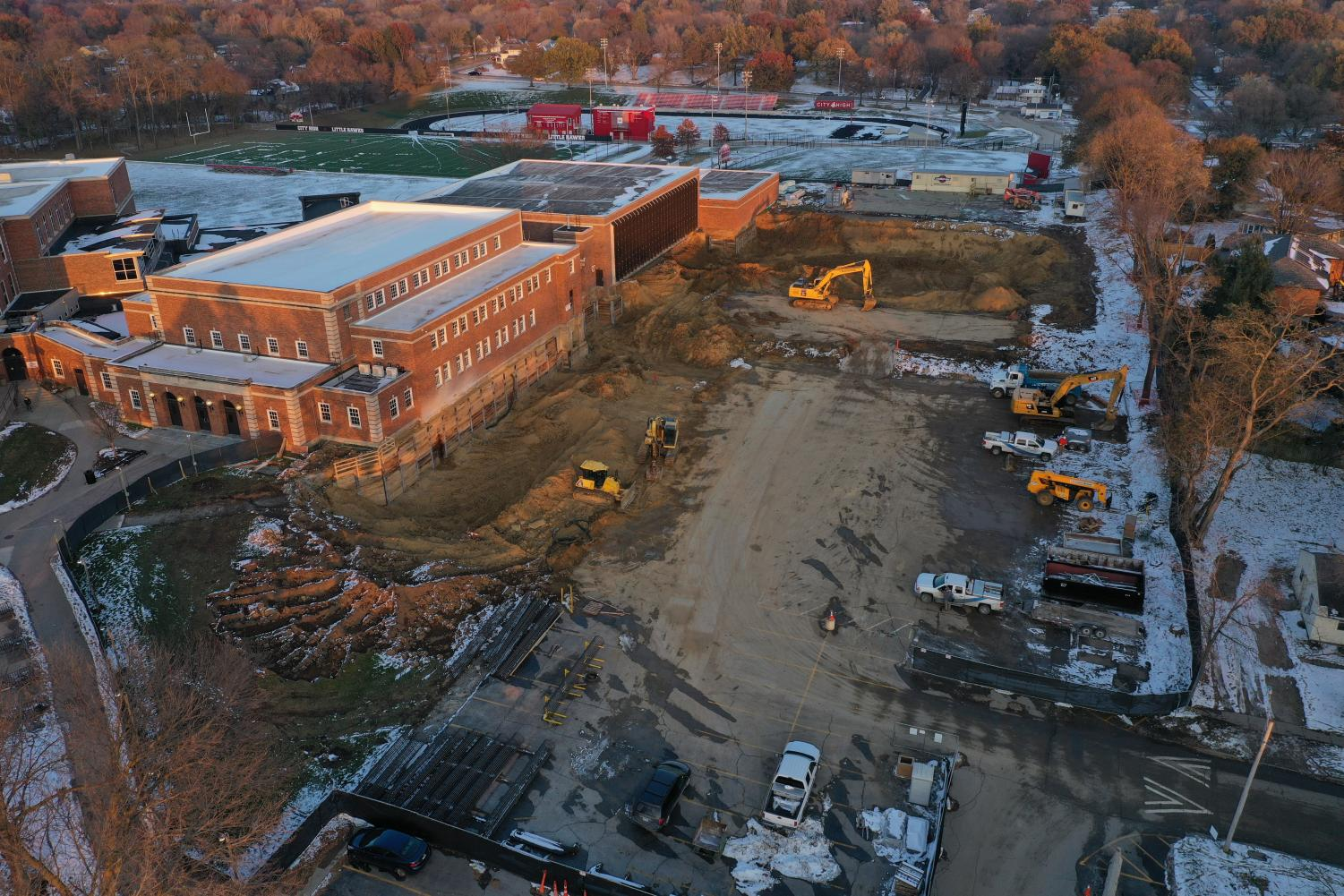 Construction zone on November 14.