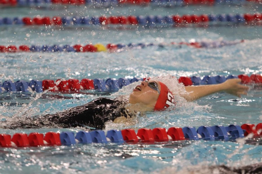 Weigel placed sixth in the 100 backstroke with a finals time of 57.35, which was 0.3 seconds faster than her preliminary time the day before.
