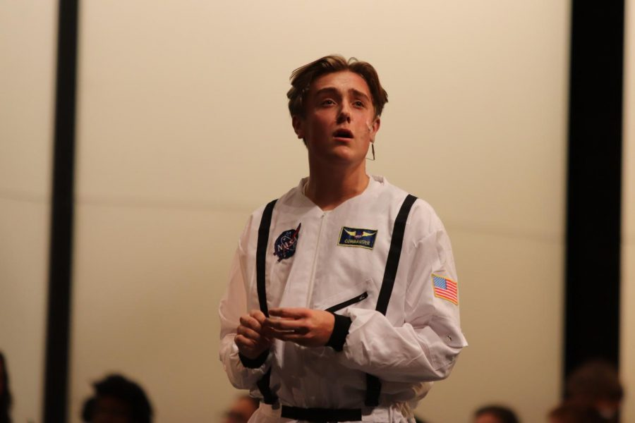 Ian Allen '21 performing solo about 1969 moon landing