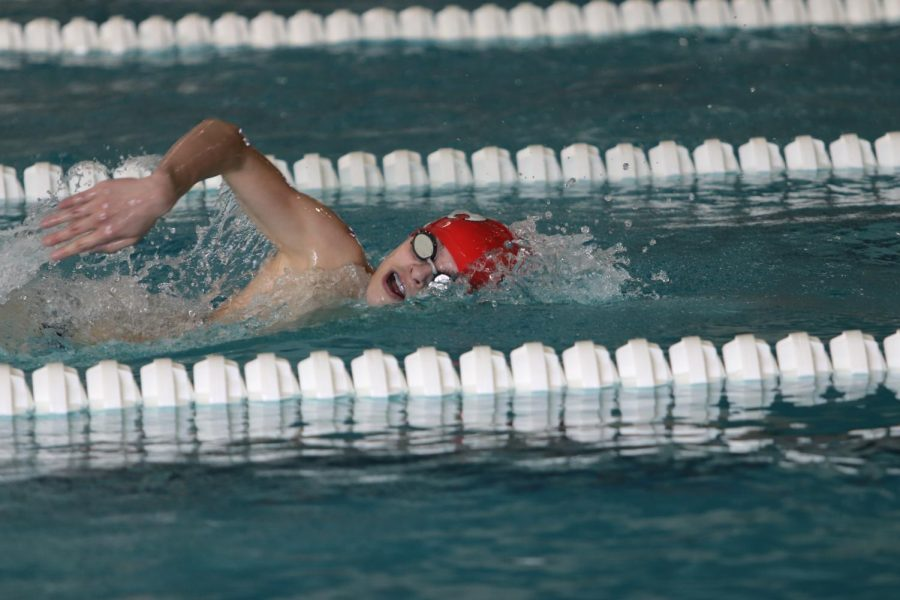 John+Weigel+%2723+swam+the+500+yard+freestyle%2C+the+100+yard+backstroke%2C+as+well+as+the+200+yard+medley+relay+and+the+400+free+relay+at+The+Little+Hawk+Invite.