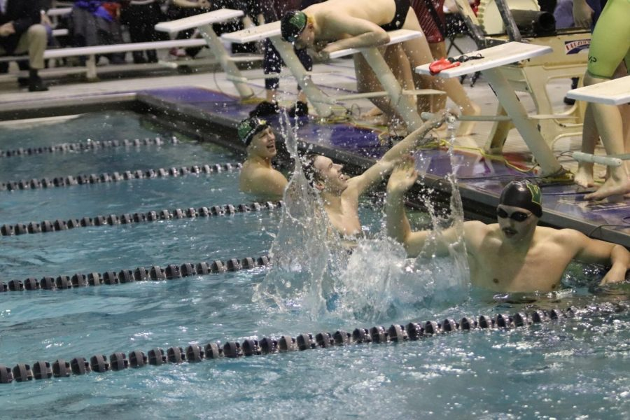 City Highs Varsity A 200 yard free relay broke the school record set in 1994 with a new time of 1:27.26.