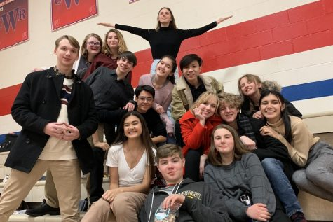 Members of the City High large group speech team pose for a picture at the end of the competition day.