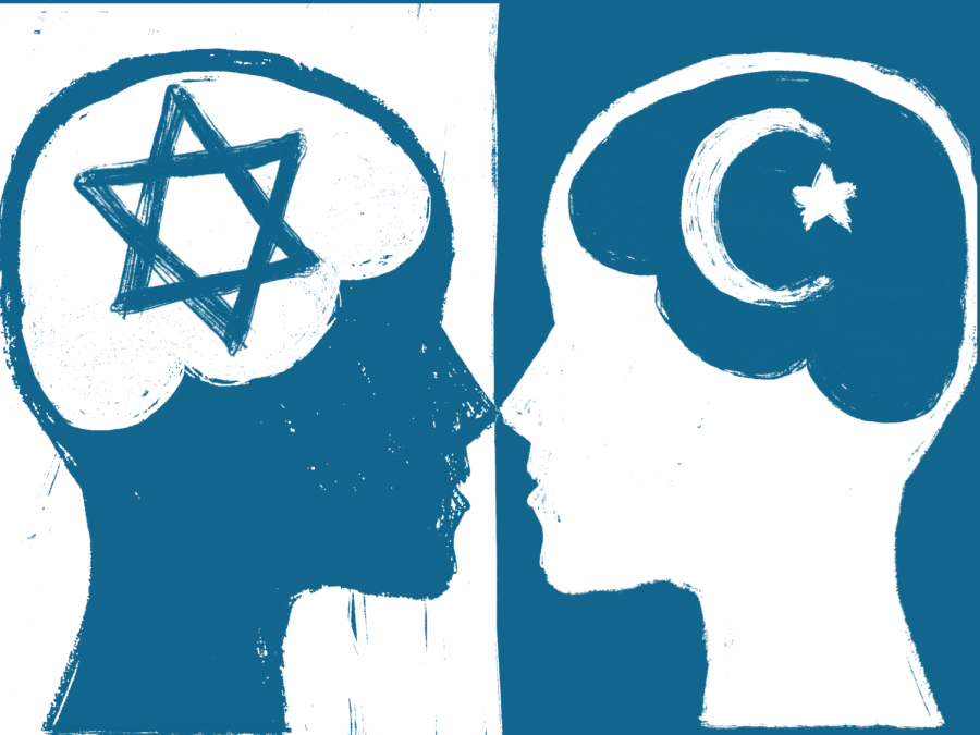 Jewish Star and Muslim