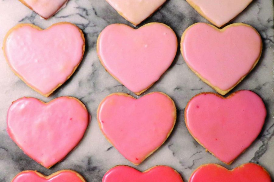 Valentine's Day sugar cookies are made with lemon zest which gives them a unique flavor