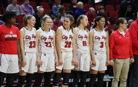 The City High Girls Basketball team lost to Johnston 61-71 during on Thursday March 5, during the semifinals of the state tournament. ,
