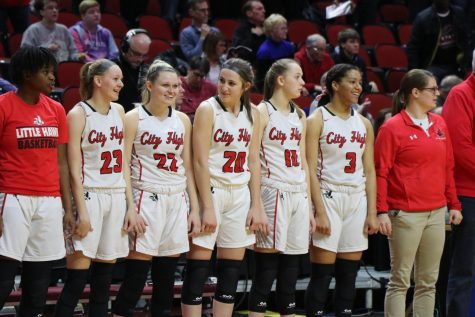 The Girls Basketball Team Loses in the Semifinal Round at the State Tournament