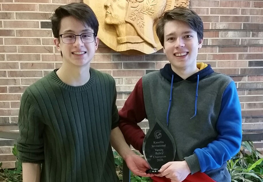 Ellis Chen '20 and Simon Weiss '20 Continue Their Policy Debate Success With Victory at Kanellis