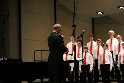 Dr. Grove directs the Little Hawk Singers choir at the choir department