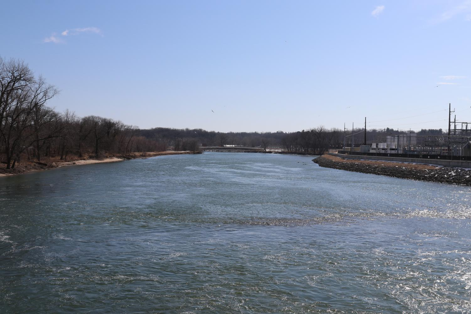 The Iowa River is about 330 miles long, starting in northcentral Iowa and flowing past Iowa City on its way to the Mississippi River.