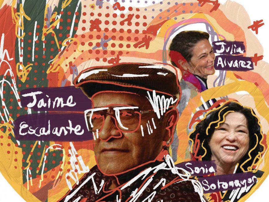 Art of three Hispanic politicians