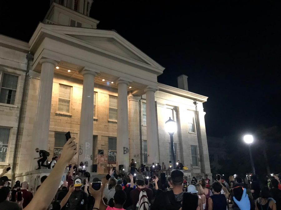 Protesters met at the old capitol every night before they began marching.