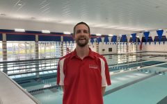 City High Swimming and Diving Head Coach Zane Hugo poses at Mercer on the last day of practice before the 2020 Regional meet.