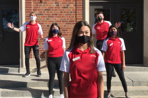 Senior ambassadors Thomazin Jury '21, Maya Warren '21, Ben Cooper '21, Francesca Brown '21, and Noah Hartwig '21 in their video about involvement at City High
