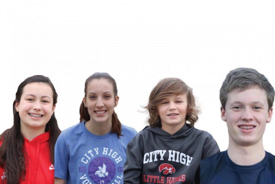 Kalea Seaton '24, Claire Ernst '24, Arthur Hall '24, and Joe Polyak '24 make up the freshmen to watch for 2021.