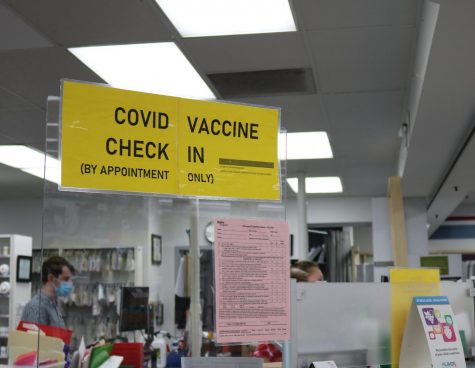 A vaccination site at the Hyvee Drugstore in Iowa City