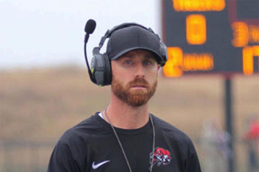 Mitch Moore coaching football