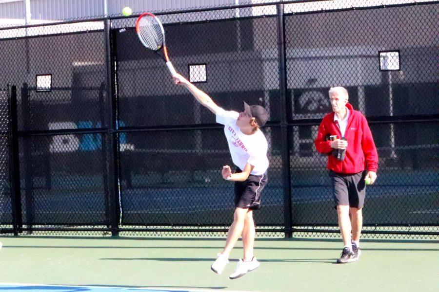 City Boys Tennis Goes Against Prairie High School