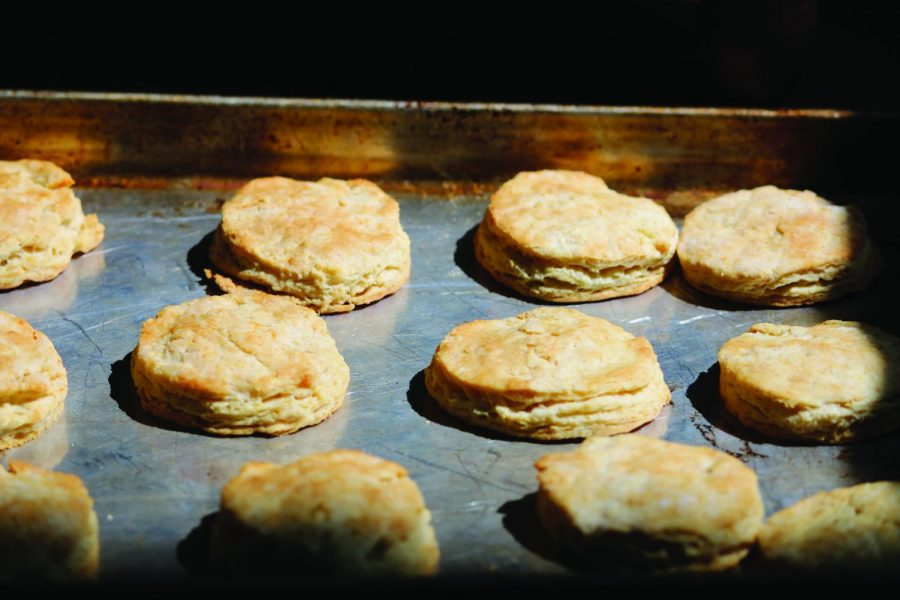 These buttermilk biscuits are flaky and flavorful - perfect for any occasion.