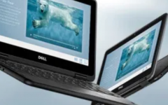 Features of the new Chromebooks include: a rear facing camera and a touch screen.